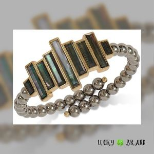 Lucky 🍀 Brand Pearl Stone Imitation Cuff Bracelet